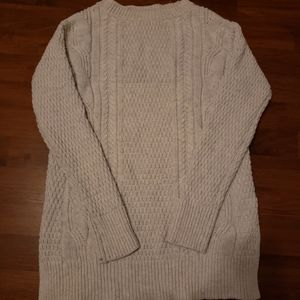 Gap Light Grey Cable Knit Crew Neck Sweater